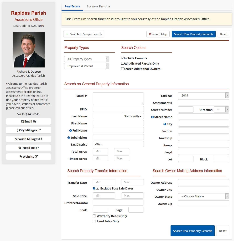 Home Page - Rapides Parish Assessor